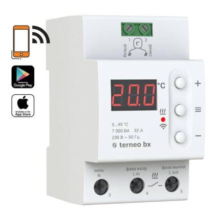 Terneo BX termostat na szynę DIN WiFi (32A)