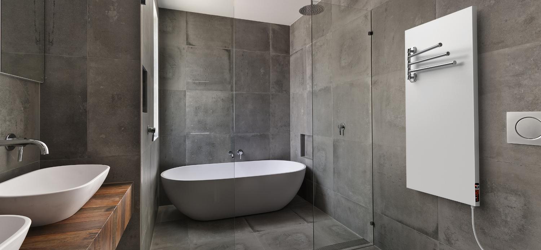 Panel grzewczy w łazience