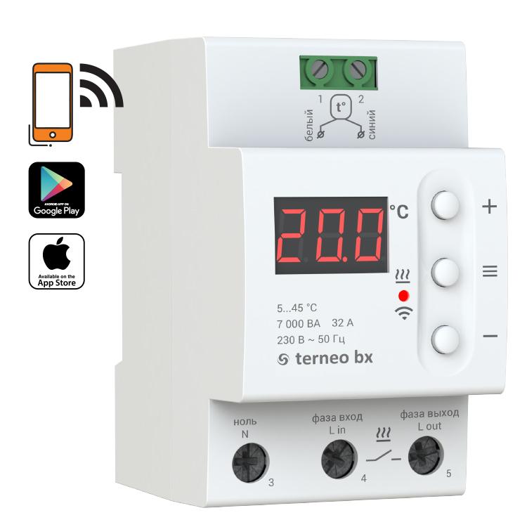 Termostat na szynę DIN z WiFi (32A)