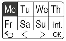 Programowanie dni tygodnia